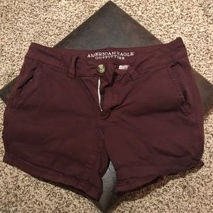 Maroon American Eagle jeans shorts